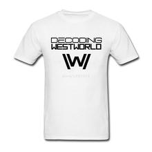 Summer T Shirt Westword Science TV T Shirt Men Hot Selling Cotton Plus Size Short Sleeve Black Westword Logo Men T-shirt