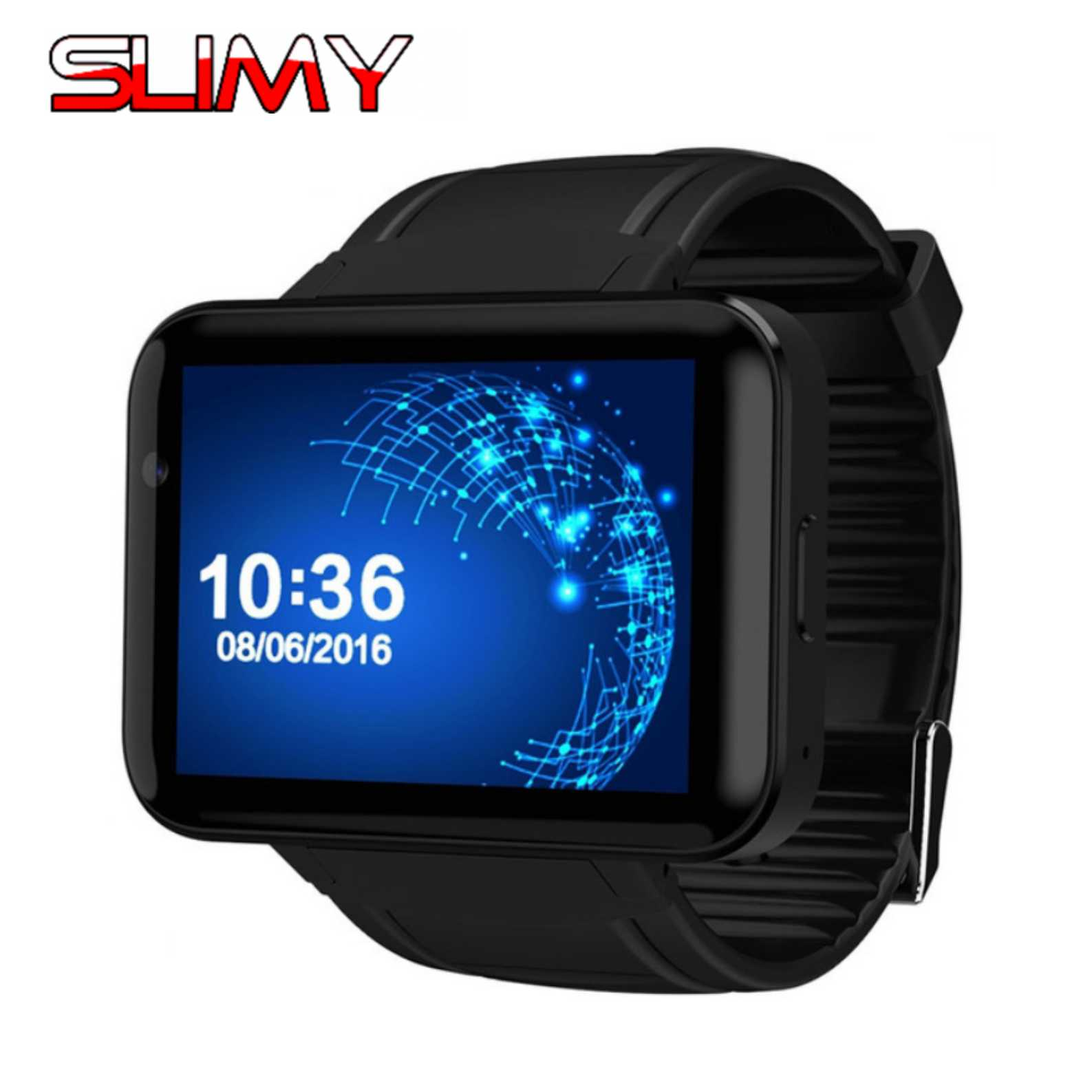 Slimy 3G Smart Watch Phone With WiFi GPS Location Bluetooth Earphone SIM Android 4.4 OS Bluetooth Smartwatch PK KW88 X02S I4 no 1 d5 bluetooth smart watch phone android 4 4 smartwatch waterproof heart rate mtk6572 1 3 inch gps 4g 512m wristwatch for ios