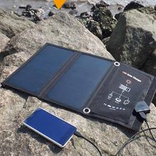 Solar folding charge bag Sun power 15W outdoor 5V portable fast charge mobile phone tablet charger