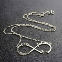 Infinity Necklace with Names Pendant
