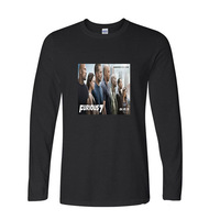 2017 Natural Cotton Furious 7 Funny Raglan Sleeve T Shirt Men