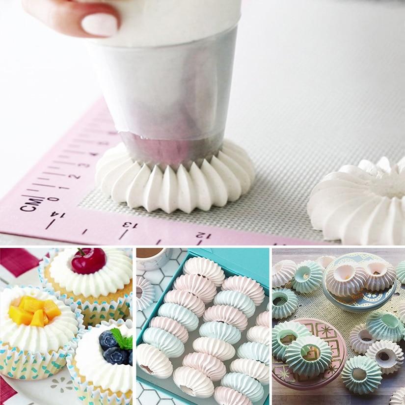 9pcs//set Cake Scraper Fondant Cutter Pastry Mold Baking Cupcake Decorating Tool