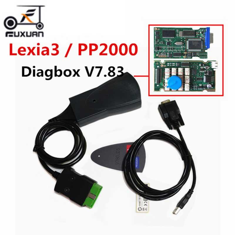 Dernière Version lexia3 PP2000 Lite Diagbox V7.83 PSA XS évolution pour ci-troen/pour pe-ugeot LEXIA-3 FW 921815C Lexia 3
