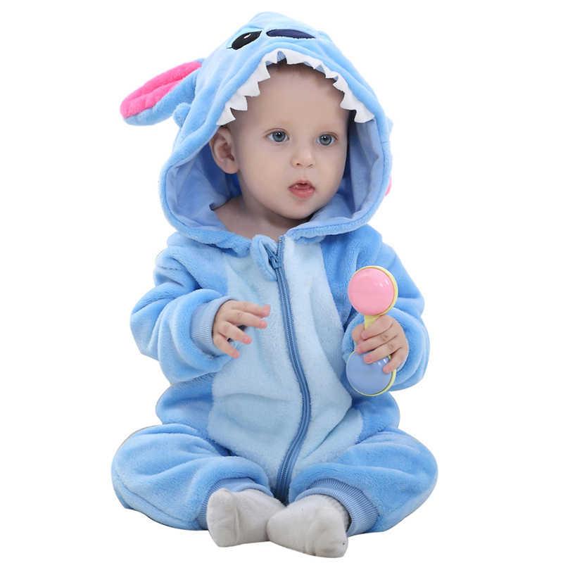 2019 peleles para bebés niños niñas pijamas de franela de dibujos animados de conejo de algodón Animal recién nacido peleles Stitch conjuntos de bebé