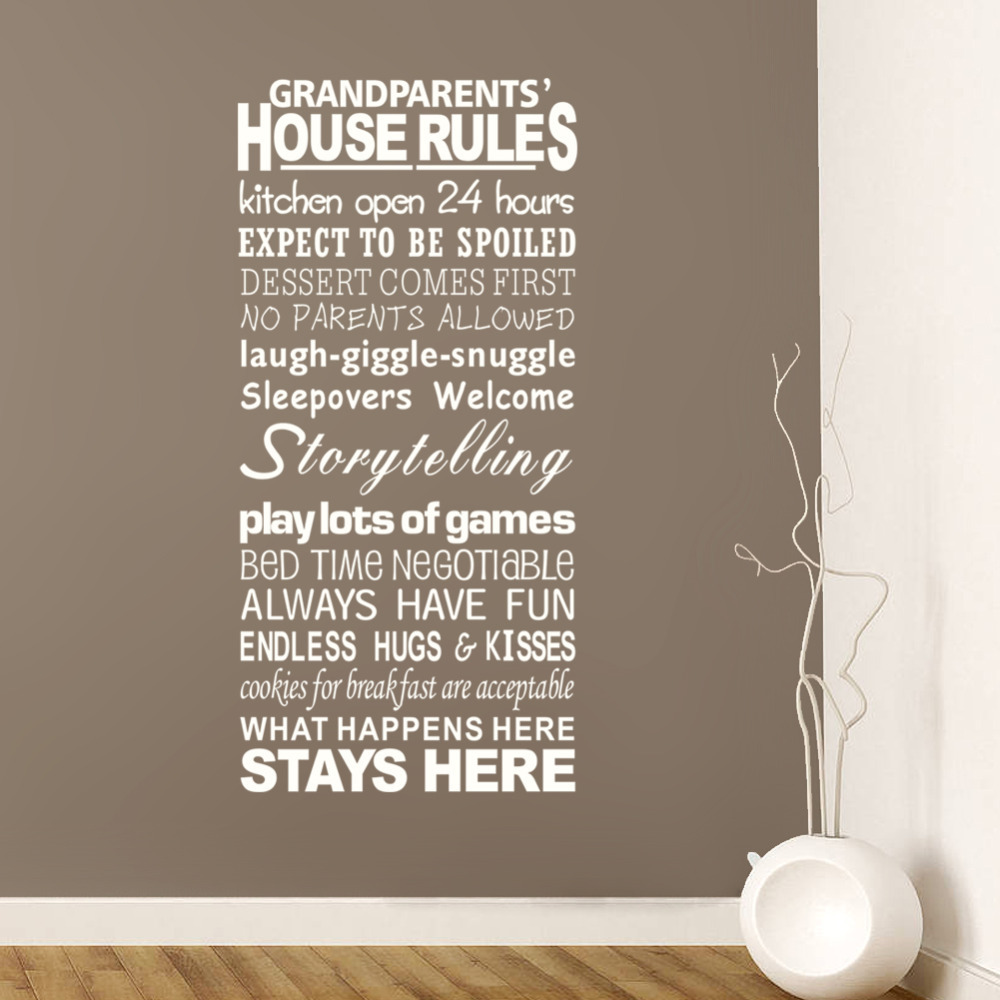 Sticker screen picture more detailed picture about english english proverbs house rules large letter words pvc removable room zy8240 vinyl decal art diy wall amipublicfo Gallery