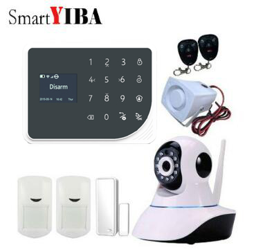 SmartYIBA Smart Home Security Wifi Gprs Gsm Alarm System Android/IOS APP Remote Control Spanish Russian Voice Video IP Camera