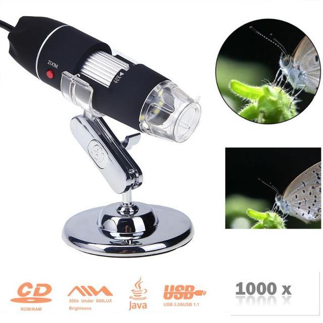 Portable USB Digital Electronic Microscope 8 LED Magnifier 1