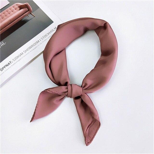 Новый корейский стиль для женщин мягкий шелк чувствовать себя квадратный атласный платок небольшой простой средства ухода за кожей шеи шейный платок головн