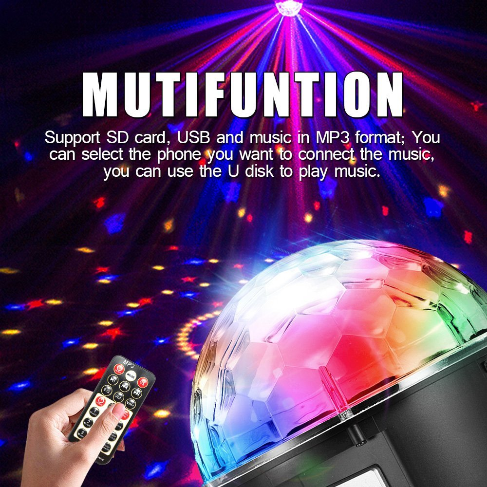 Stage Lights 6 Color LED DJ Disco Lights Party Rotating Crystal Magic Ball Lights Sound Activated Strobe Effect Light-in Stage Lighting Effect from Lights ...  sc 1 st  AliExpress.com & Stage Lights 6 Color LED DJ Disco Lights Party Rotating Crystal ... azcodes.com