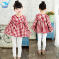 M&F Kids Plaid Dresses For Girls Beautiful Princess Dress Spring Girls Party Dress Children Wedding Dress Girls Clothes