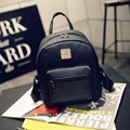 2017 Korean Retro Leather Backpack Women's Casual Daypacks Smiple Personalized School Bags For Teenager Rucksack Mochila Escolar