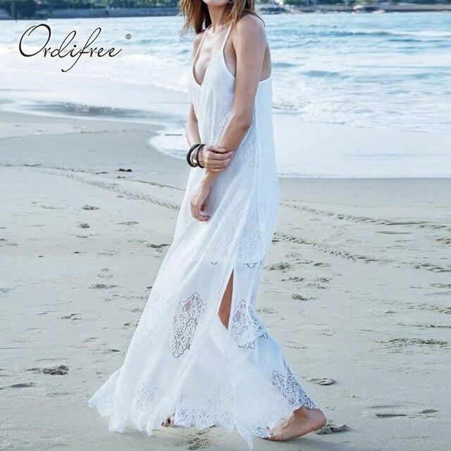 Ordifree 2019 Summer Women Maxi Long Beach Dress Plus Size 3XL 4XL ...