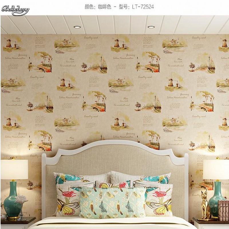beibehang Style children's room wallpaper boy girl environmental non-woven wallpaper warm room study living room home decoration beibehang wallpaper high grade environmental protection non woven wallpaper girl boy room room striped wall paper car children
