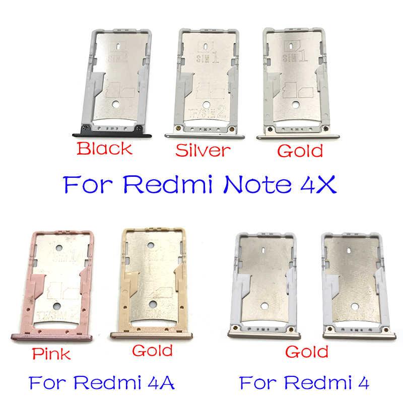Pemegang Kartu SIM Tray Slot Pemegang Adaptor untuk Xiaomi Redmi 3S 4 4A Catatan 4X Pro