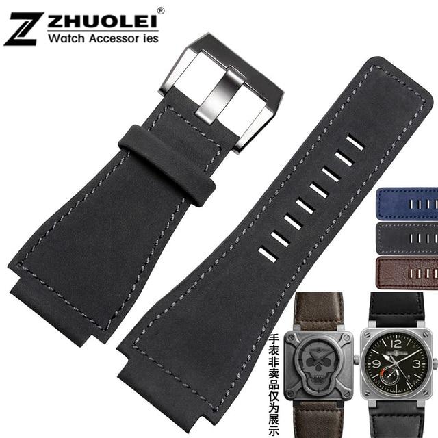 Новые поступления черный | | Brownmens кожаный браслет натуральной кожи ремешок для BR01 ремешок 35 * 25 мм ремешок для часов аксессуары