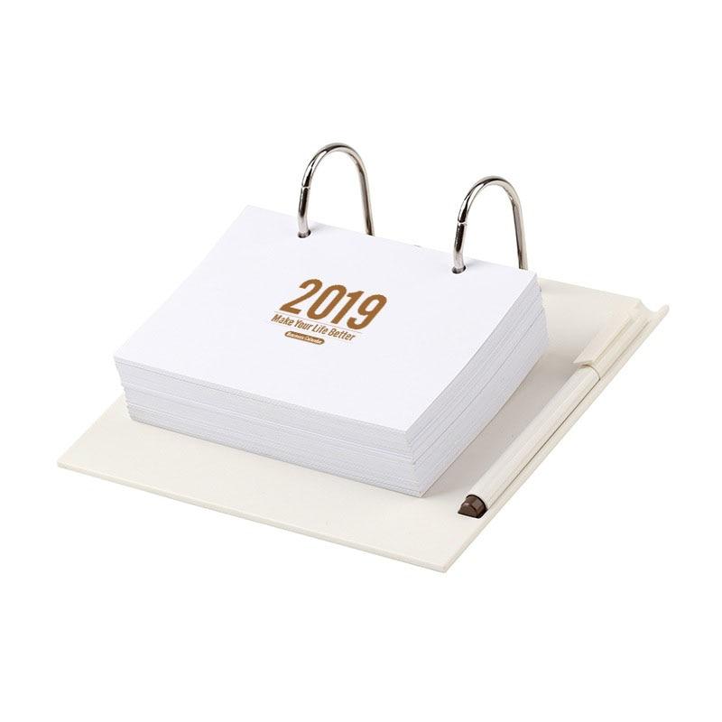 2019 365day journal d'étude hebdomadaire planificateur Table bureau calendrier à faire liste Agenda Table perpétuelle en bois calendrier larme cadeau d'anniversaire