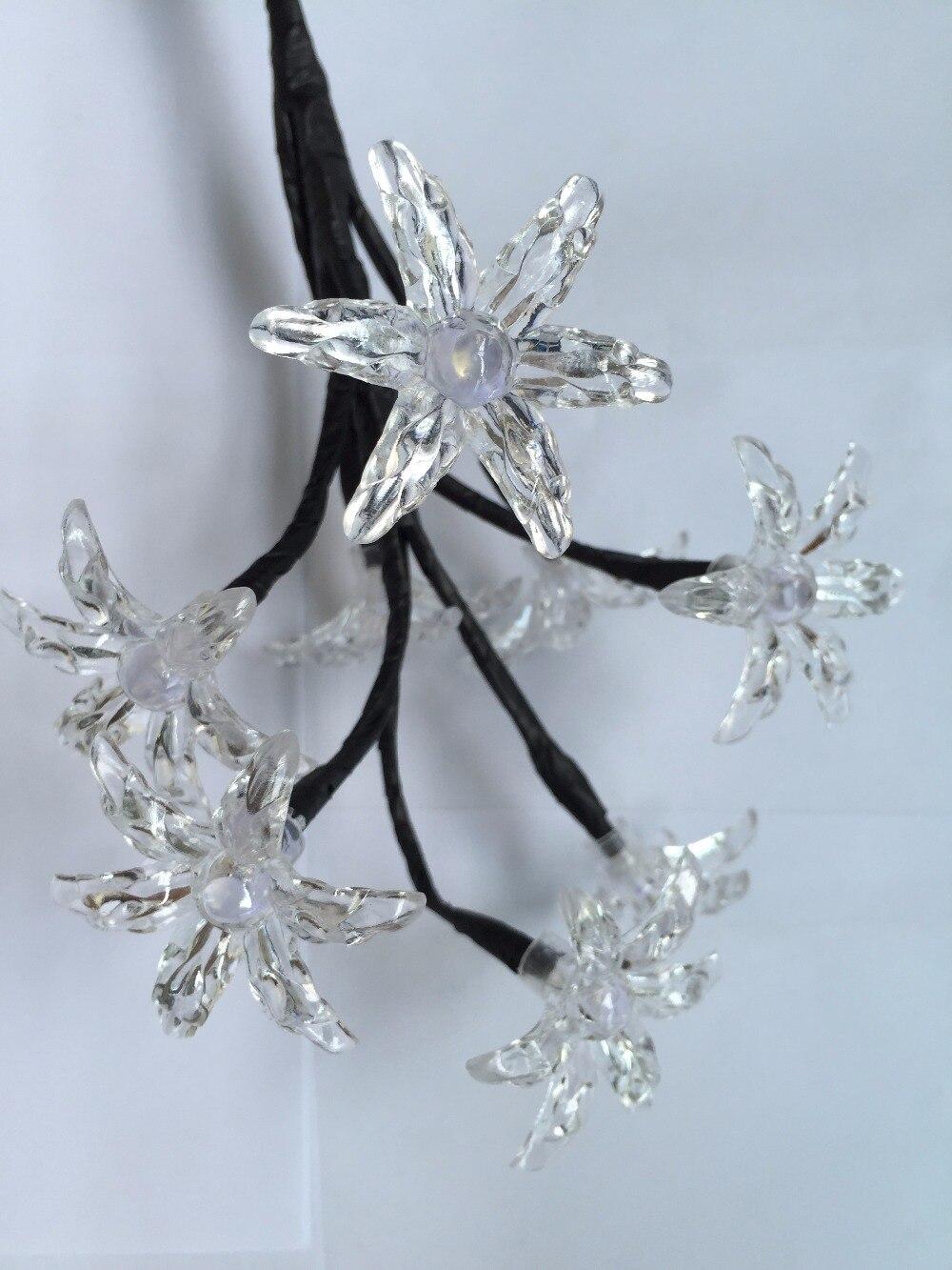 9Pig 26 см Высота 8 шт. светодиоды украшение дома ночник Ночной цветок лампа балкон терраса белый свет для рождественской вечеринки сад