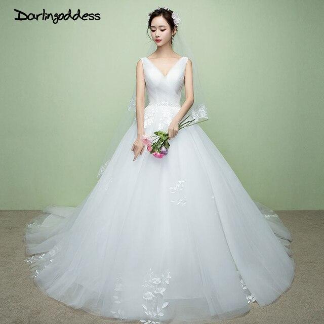 Darlingoddess Real Photo Luxury Princess Lace Wedding Dress Plus ...