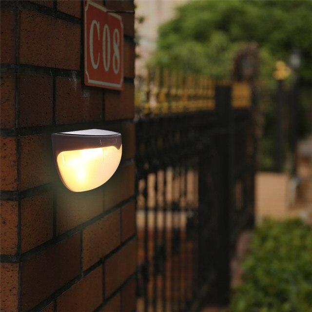 6leds Solar LED Wall Light IP65 Waterproof Outdoor Street Garden Pathway LED Stair Deck Light