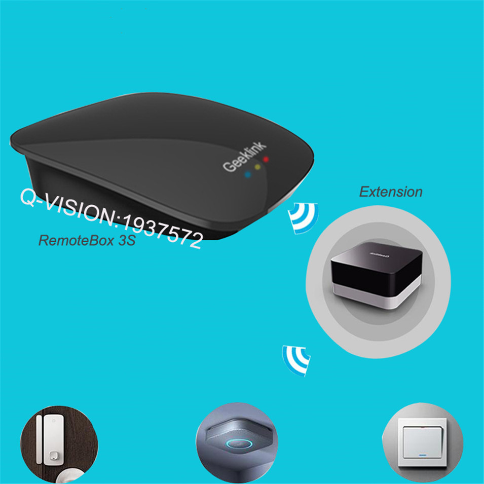Geeklink Remotebox 3S Smart Universal Wireless Control 8-15M Realtime Feedback WIFI+IR+RF AndroidIOS Home Automation 315 433Mhz-3