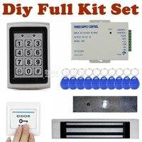 DIYSECUR Completo Conjunto Kit 125 KHz RFID Caixa De Metal Porta Teclado Sistema de Segurança Controle de Acesso Kit + 180 KG magnetic bloquear 7612
