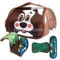 Bonito dos desenhos animados Animais de Estimação Cão Marrom Azul Vaca Dolph Freezable Isolados Saco de Caixa de almoço Para As Crianças Da Escola Das Crianças Lunchbox Picnic Food sacos