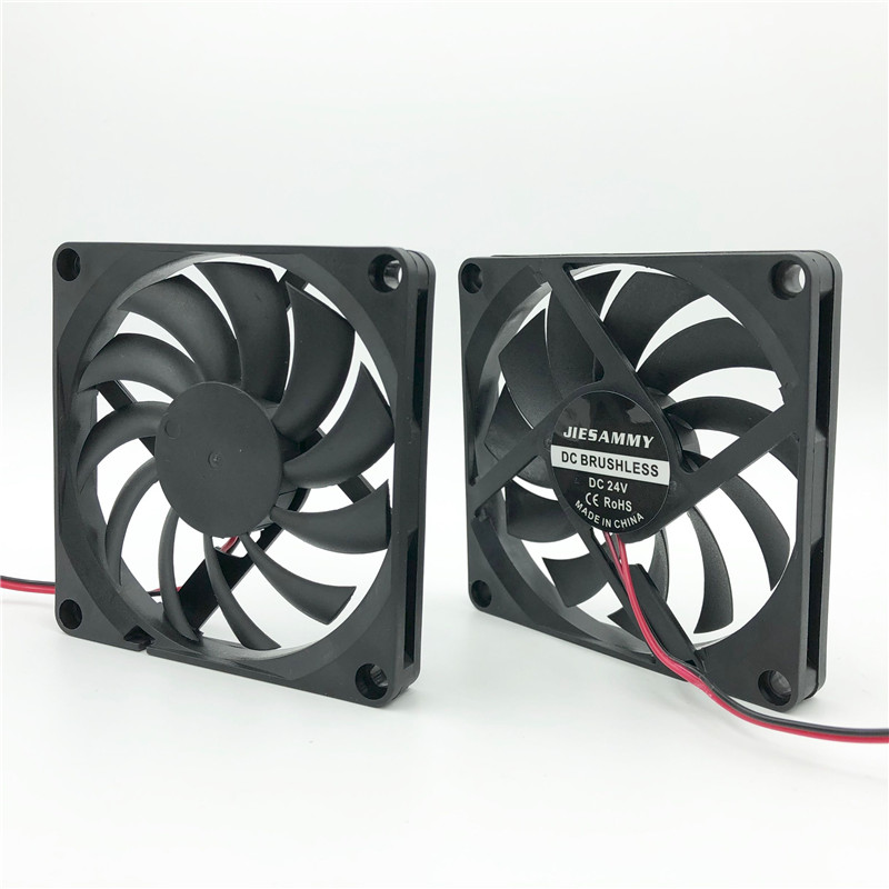 24V 80mm 80x80x15mm 8cm PC CPU Computer Case Cooling Cooler Fan 2pin 15mm