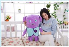 middle cute plush blue clothes aliens toy lovely home laughing alien doll gift about 50cm