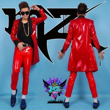 2695 europe and the united states burst skull dj creative personality living room bedroom tv background decorative wall 2019 new men's personality sequined casual suit jacket Europe and the United States DJ stage men's singer costumes suit