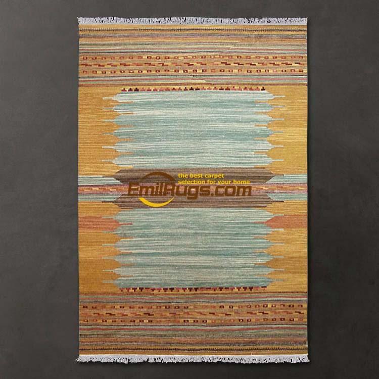 area rug for living room American country ranian Persian style wool KILIM handmade carpets Sasaliye gc137-38yg4