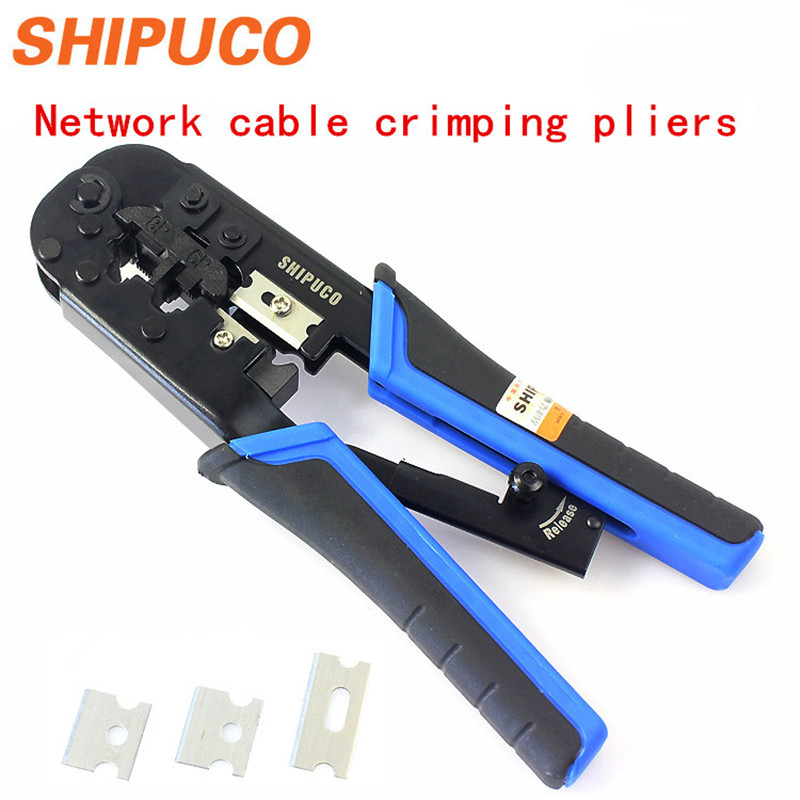 Free shipping SHIPUCO 868DR Telecom RJ45/11/12 Strip & Cut & Crimping Tool & hand crimping & Network Tool