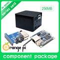Новый Orange Pi Нулевой Отметки 5: Orange Pi Zero 256 МБ + Плата Расширения + Черный Корпус совет по развитию за Raspberry Pi