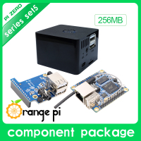 Orange Pi Zero Set 5:Orange Pi Zero 256MB+Expansion Board+Black Case development board