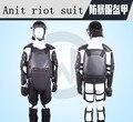O envio gratuito de Segurança motim motim ternos preto chama-prova armadura equipamentos de proteção duro Hornier Protetora Anti roupas