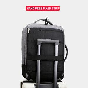 Image 4 - Mochila de viagem masculina, antirroubo 15.6 laptop Polegada bolsa masculina para notebook usb impermeável