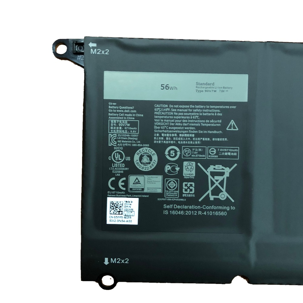 7.6V 56Wh/7360MAH 90V7W New Original 90V7W Laptop Battery for Dell XPS13-9343 XPS13 9350 90V7W JD25G DIN02 P54G