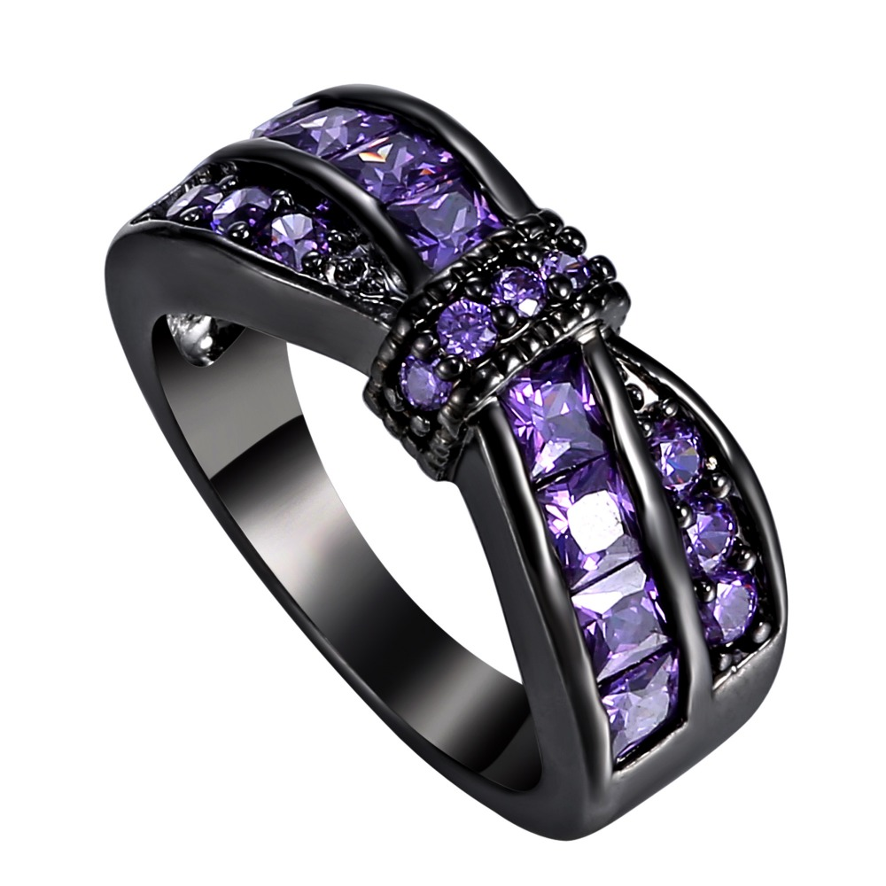 Black And Purple Rings For Women Wiring Diagrams 100electricalcircuitdetaillabelsfuseboardconsumerunitstickers Delicate Sexy Amethyst Gold Filled Ring Rh Aliexpress Com Diamond