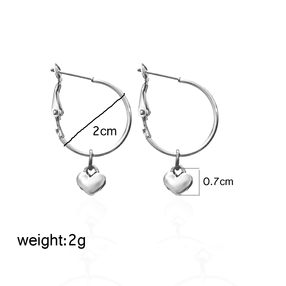 Chadestinty Gold Silver Color Star Earrings Cross Leaf Heart Square Triangle Round Dangle Earring For Women Simple Jewelry