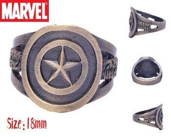 Кольцо с логотипом Капитана Америки Марвел