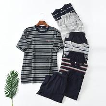 Pajamas For Men Summer short sleeve pajamas Cotton Pyjamas Men