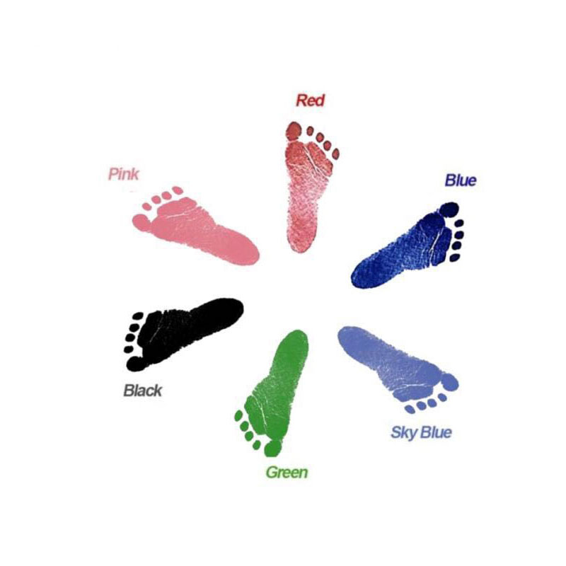 Baby Hand And Foot Printing Table Disposable Non-toxic Baby Hand And Foot Baby Souvenir Set Toy