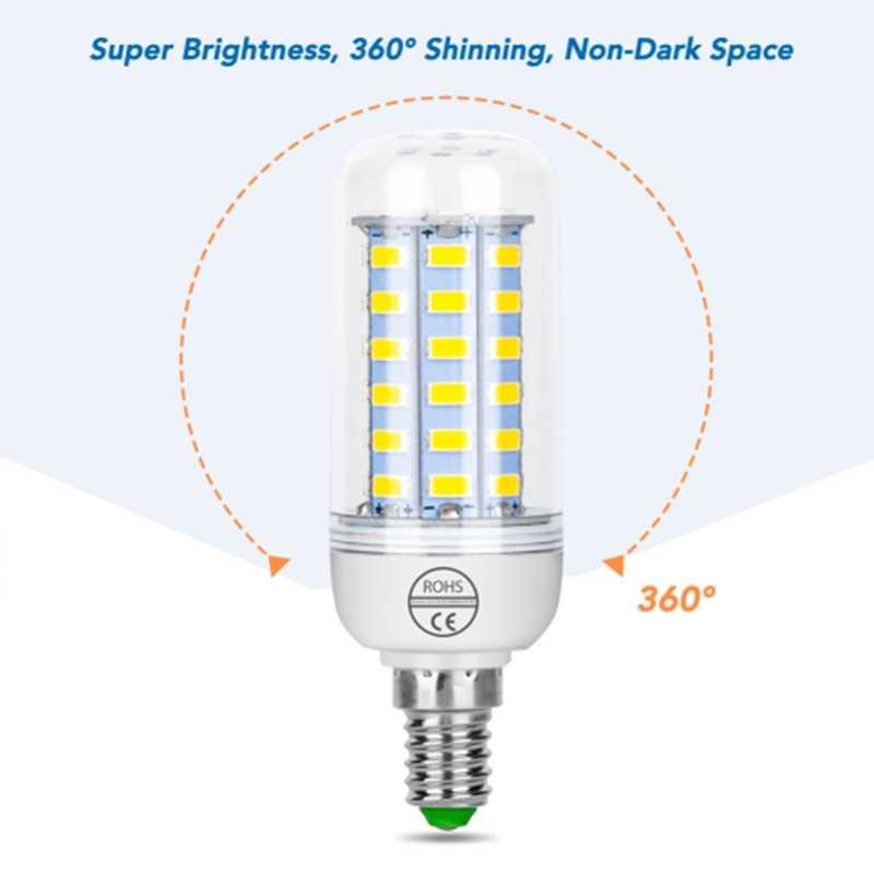 E27/E14LED Lamp SMD5730 220V Corn Bulb 24 36 48 56 69LEDs Chandelier Candle LED Light For Home Decoration Lighting Saving Lights