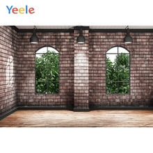Yeele Interior Brick Wall Wooden Floor Light Window Photography Backgrounds Personalized Photographic Backdrops For Photo Studio