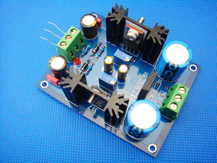 LM317 LM337 adjustable filter stable power supply panel continuously adjustable voltage output suitable for the front stage