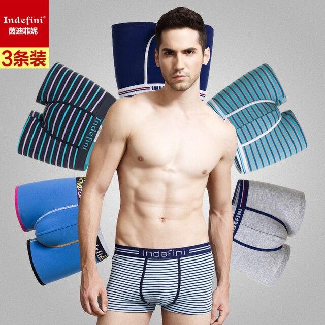 3PCS/lot Hot Sale Men Male Underwear Men's Comfortable Boxer Underwear Sexy Striped Cotton Man Underwear Boxer Fringe Underpants