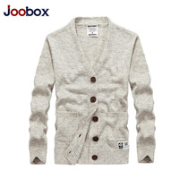 JOOBOX New Brand Sweater Men V Neck Solid Knitting Mens Sweaters Cardigan Male 2019 Spring Casual Tops Hombre Men's Clothing
