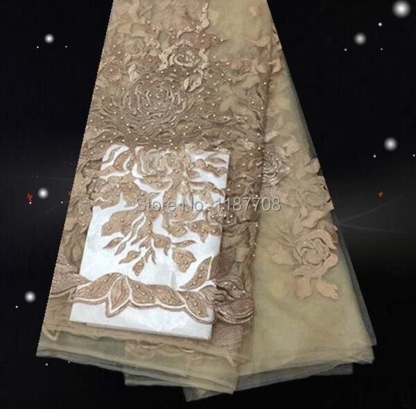 29yjy08-2! Kaki! Haute qualité africaine tissu de tulle avec perles,  Livraison gratuite bonne vente de tissu de dentelle française pour robe de  soirée e0e926d8f83
