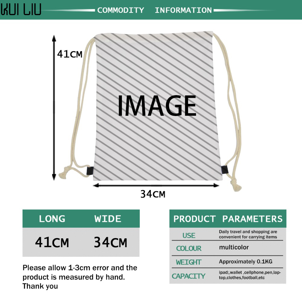 Customized Draw Strings Bag Backpack Package Any Image Is Available The Only Need Is A Picture I Will Do The Design For You