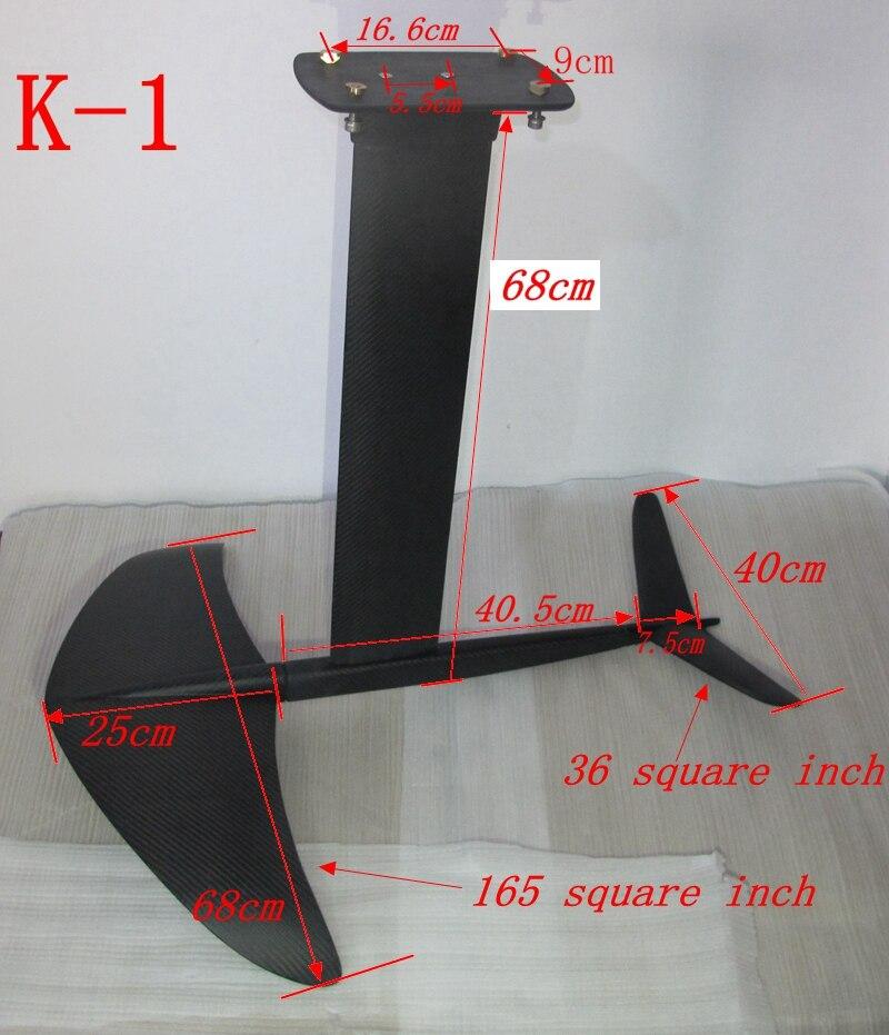 Image 4 - Full Carbon Hydrofoil foils for Surfboard kiteboard SUP Surfing,3K Carbon Hydrofoil Thrust Surf Foil K1 K 1 Nhydrofoilsurfmast -