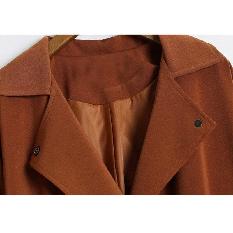 La Femmes Nouvelle Vestes brown Boutique Taille Survêtement black Mode Mince Veste vent Armygreen Coupe Manteaux Casual Okxgnz1210 Plus Printemps Automne Longue Femelle PxdZdYqf